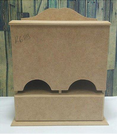 Caixa porta chá com gaveta   MDF   Dimensões: 25 x 22 x 11