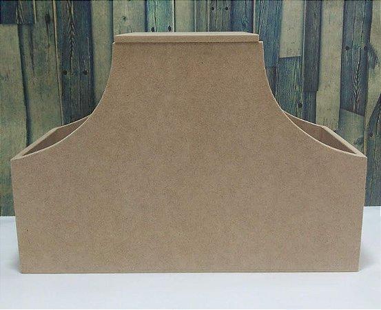 Galeteiro com 3 divisórias e tampa   MDF   Dimensões: 19 x 28 x 11