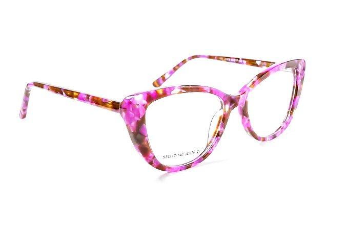 Armação para óculos de grau feminino - modelo gatinho - óculos diferente super luxuoso