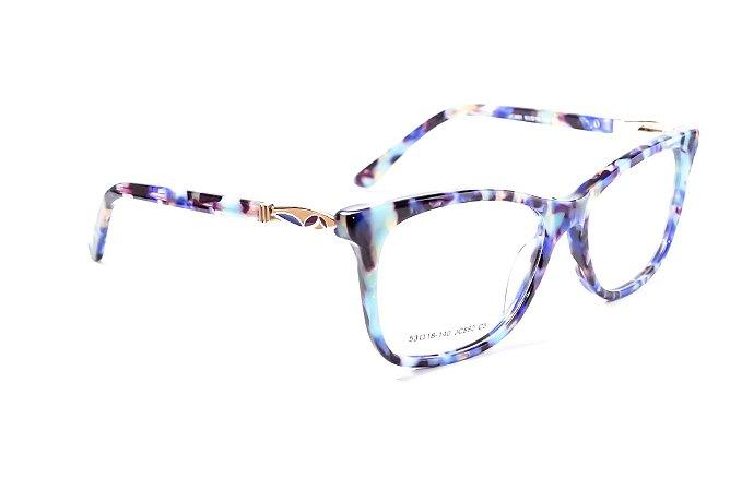 Armação para óculos de grau feminino - modelo Rajado - óculos diferente feminino