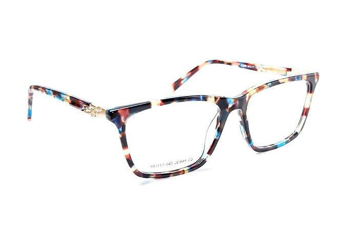 Armação para óculos de grau feminino - modelo Rajado escuro - óculos diferente acetato