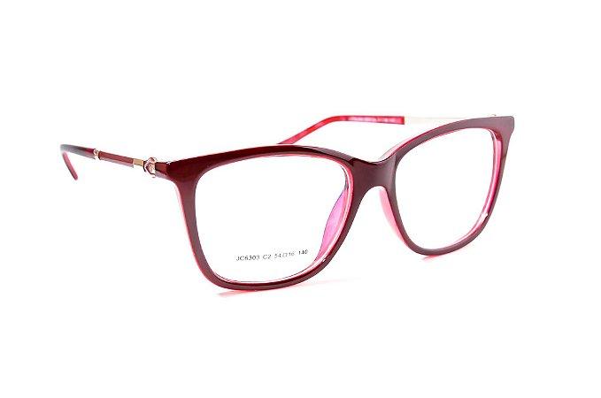 Armação para óculos de grau feminino - acetato vermelho Vinho - óculos divo