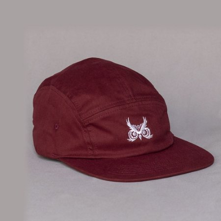 Boné Five Panel Bordô - Logo Básico