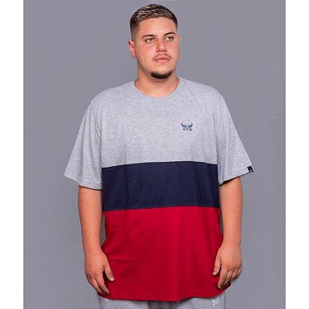 Camiseta Listrada OWL Stripes - Azul Marinho