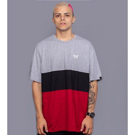 Camiseta Listrada OWL Stripes - Preto
