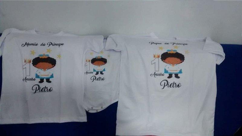 Kit Chá de Bebê 3 Peças Camiseta Meu Príncipe - weestampaweb b79858a0fb5b4