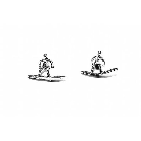 Brinco de Prata Segundo Furo Surfista - 00648