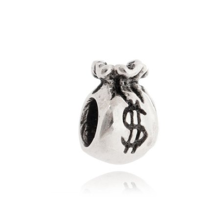 Berloque Saquinho de Dinheiro em Prata 925 - 09680