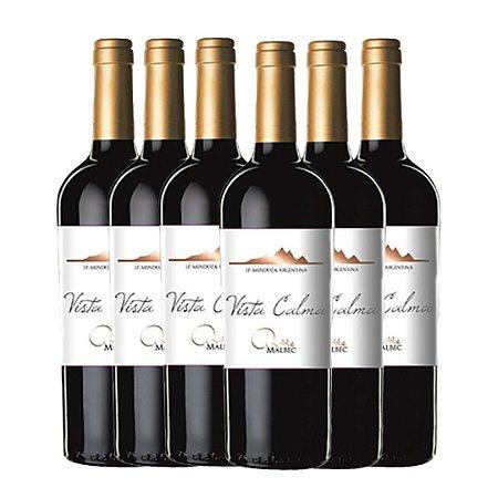 Vinho Vista Calma Malbec Oak 2017 750ml 6 GARRAFAS