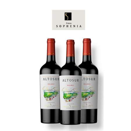 Vinho Tinto Malbec Reserve AltoSur Sophenia 2017 750ML 3 GARRAFAS