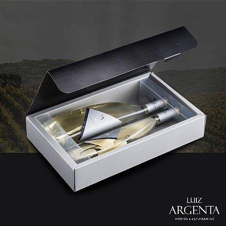 Caixa Luiz Argenta Gêmeas com Vinhos Branco Gewurztraminer e Sauvignon Blanc