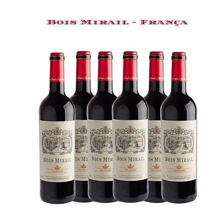 Vinho Tinto Francês Bois Mirail 750mL Caixa com 6 garrafas