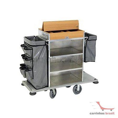Carro arrumadeira de quartos 150858 H-10 Alumínio