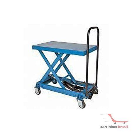 Mesa hidráulica manual 250 kg elevação 1370 mm