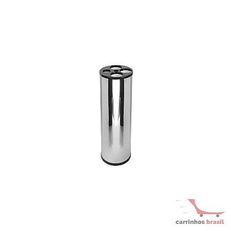 Lixeira aço inox 24x71  2028
