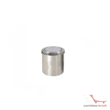 Lixeira em aluminio 13 lts flip top  2036