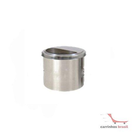 Lixeira em aluminio 13 lts meia lua inox  2034
