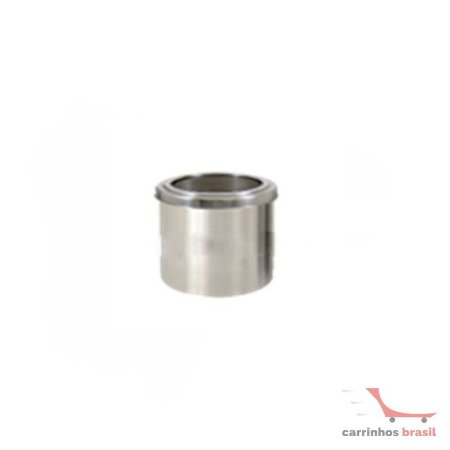 Lixeira em aluminio 13 lts aro inox  2032