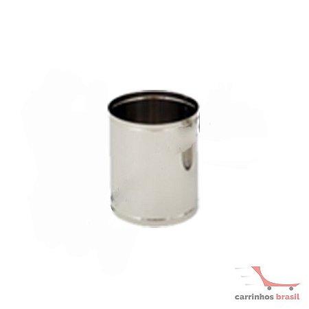 Lixeira aço inox 7 litros  2000