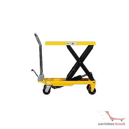 Mesa hidráulica manual 150 kg elevação 740 mm