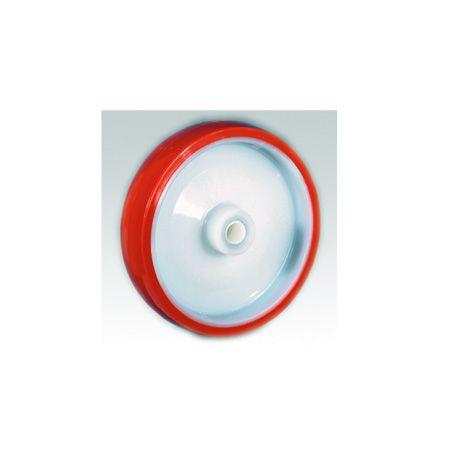 Rodas em poliuretano injetado, núcleo em poliamida 6 (nylon)