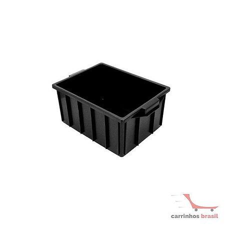 Caixa fechada 28 lts cor preta CX2