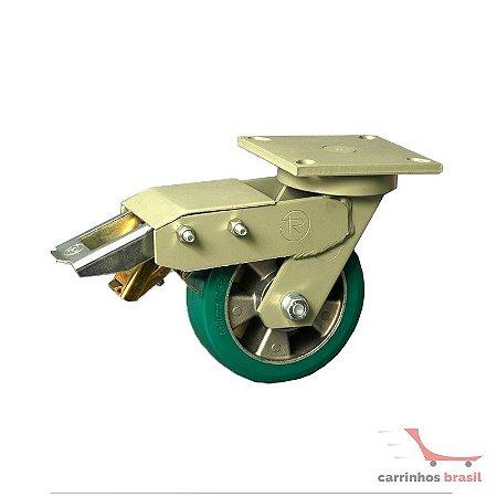 Rodízio giratório 160x50 550kg  GCAX 62 TR-ROLL com freio