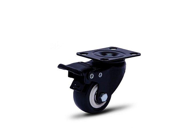 Rodinha giratória GLPB 210 BPE com freio metal