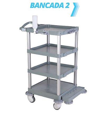 Carro hospitalar Bancada 2