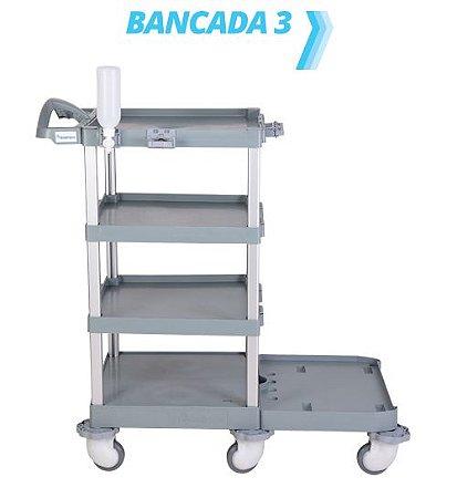 Carro hospitalar Bancada 3