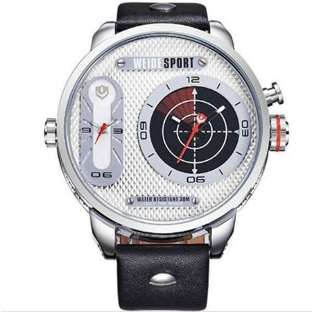 Relógio Masculino Weide Analógico WH-3409 Prata e Branco