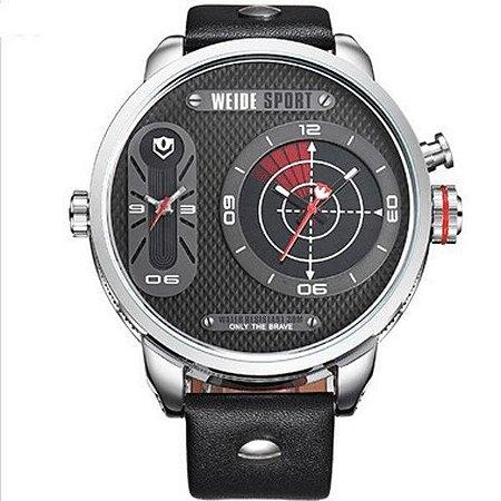 1f7d67ff097 Relógio Masculino Weide Analógico WH-3409 Prata e Preto - LRC ...