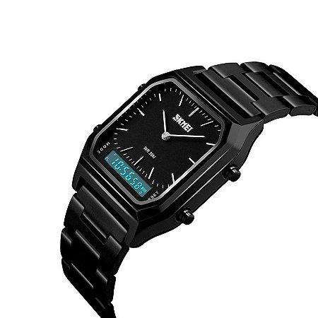 Relógio Unissex Skmei Anadigi 1220 Preto