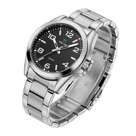 Relógio Masculino Weide Analógico WH801G Prata e Preto (2631)