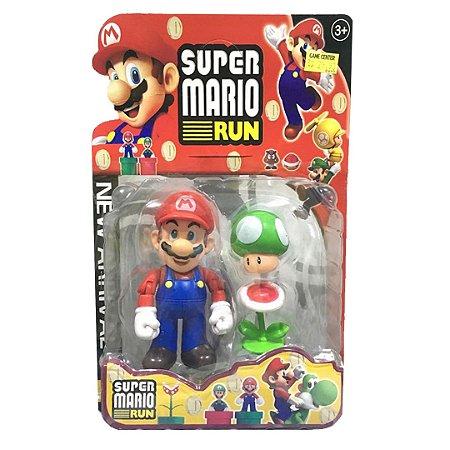 Boneco Super Mário Run - Mário Vermelho