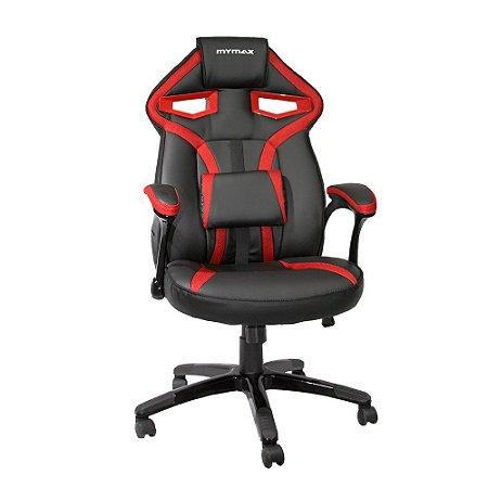Cadeira Gamer MX1 Giratória Preto/Vermelho