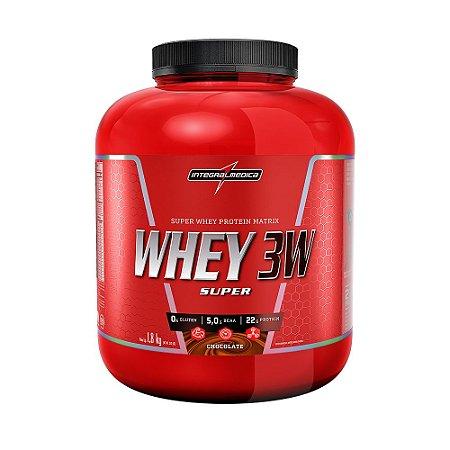 Super Whey 3w 1,8kg Whey Isolado Hidrolisado Concentrado - integralmedcia