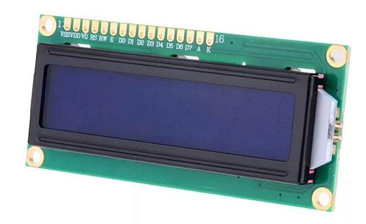 Display LCD  16x2 com Back Azul e Big Number Atmel
