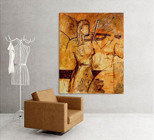 Quadro Decorativo Tela Modern Violin 100 x 80 cm