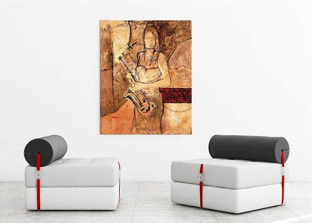 Quadro Decorativo Tela New Sax 100 x 80 cm