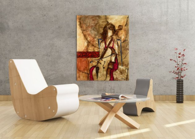 Quadro Decorativo Tela Satisfaction 100 x 80 cm