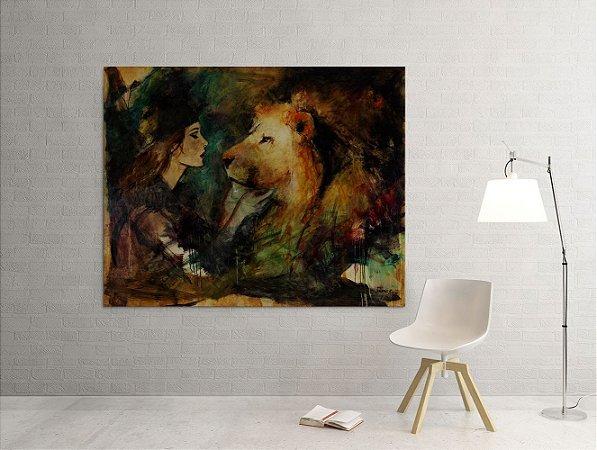 Quadro Decorativo Tela O Noivo e a Noiva 80 x 100 cm