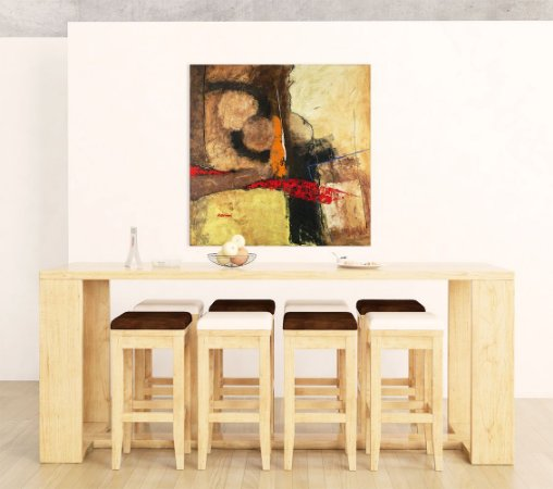 Quadro Decorativo Tela Yokkaichi 100 x 100 cm