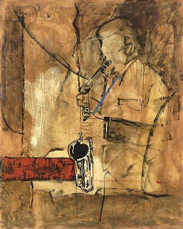Gravura Fine Art Saxofonist 50 x 40 cm