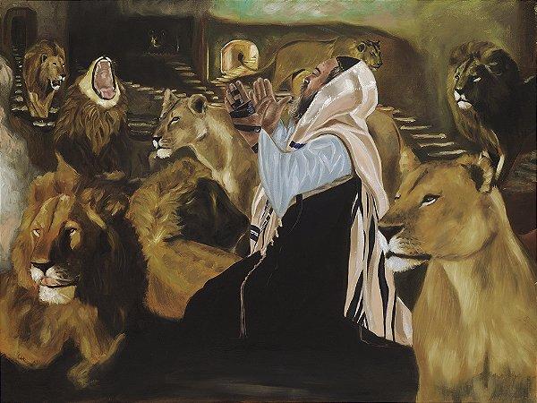 Arte Contemporânea Tela Daniel and the Lions 60 x 80 cm