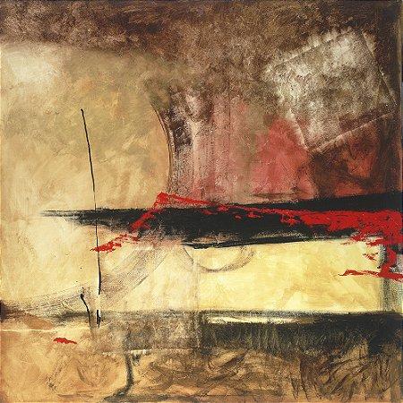 Arte Contemporânea Tela Dominante 80 x 80 cm