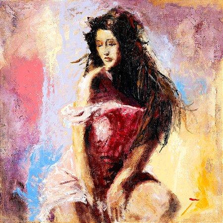 Arte Contemporânea Tela Lara 70 x 70 cm
