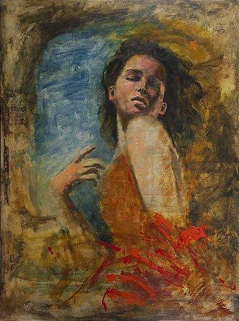 Arte Contemporânea Tela Mulher Apaixonada 80 x 60 cm