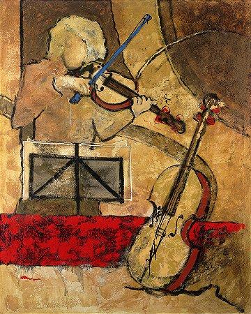 Arte Contemporânea Tela Partitura 80 x 60 cm