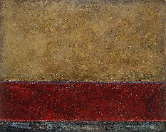 Arte Contemporânea Tela Red Sea 60 x 80 cm